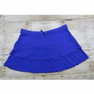 Athleta Layered Skirt Ruffles Size XL Purple Blue
